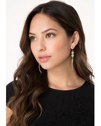 Bebe - Metallic Crystal & Horn Earrings - Lyst