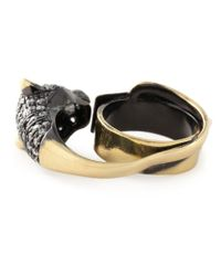 Iosselliani - Black 'bohemian Dark Knight' Cheetah Ring - Lyst