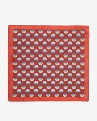 Ted Baker | Orange Large Spot Silk Pocket Square for Men | Lyst