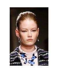 Oscar de la Renta - Black Crystal-embellished Earrings - Lyst