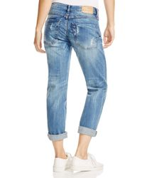 One Teaspoon - Awesome Distressed Boyfriend Jeans In Pure Blue - Lyst