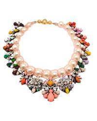 Shourouk - Orange Marisa Jumble Necklace - Lyst