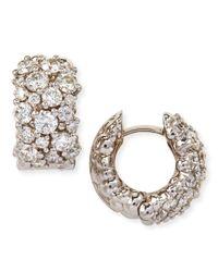 Paul Morelli | Large White Diamond Confetti Hoop Earrings | Lyst