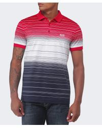 BOSS Green | Gray Paddy Stripe Polo Shirt for Men | Lyst
