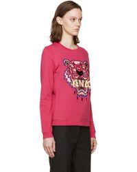 KENZO - Purple Fuchsia Embroidered Tiger Pullover - Lyst