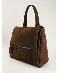 Lyst - Givenchy Large  Pandora  Shoulder Bag in Brown 9b4e57ac74988