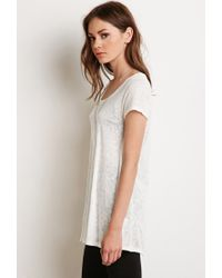 Forever 21 | Natural Slub Knit Trapeze Tee | Lyst