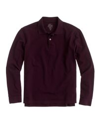 J.Crew | Purple Long-sleeve Classic Piqué Polo Shirt for Men | Lyst
