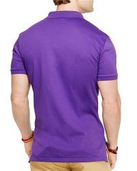Polo Ralph Lauren | Purple Pima Soft-Touch Polo Shirt for Men | Lyst