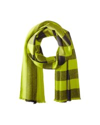 Marc By Marc Jacobs - Black Boiled Wool Plaid Scarf for Men - Lyst