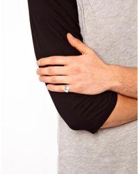 ASOS - Metallic Pinky Ring for Men - Lyst