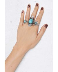 Nasty Gal | Blue Aiden Ring Set | Lyst