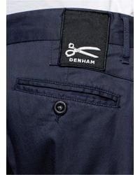Denham - Blue 'Patrol' Chino Shorts for Men - Lyst