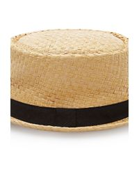 Forever 21 - Brown Straw Pork Pie Hat - Lyst