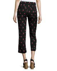 Piamita - Black Olivia Cherry-Print Pants - Lyst