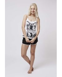 TOPSHOP | White Sleeping Beauty Cami And Shorts | Lyst