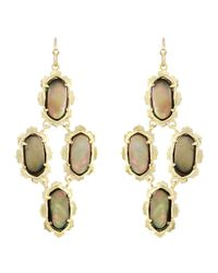 Kendra Scott | Metallic Carla Motherofpearl Earrings Brown | Lyst