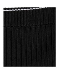 T By Alexander Wang - Black Ribbed Skirt - Lyst