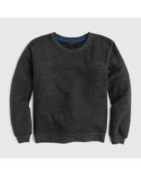 J.Crew | Black Brushed Fleece Sweatshirt | Lyst