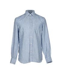 Canali | Blue Checked Dress Shirt for Men | Lyst