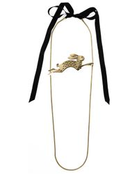 Lanvin | Metallic Rabbit Necklace | Lyst