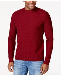 Geoffrey Beene | Purple Basketweave Crew Neck Sweater for Men | Lyst