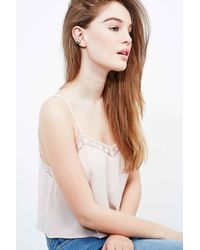 Urban Outfitters - Metallic Feather Ear Cuff In Silver - Lyst
