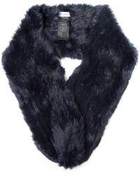 Yves Salomon - Blue Fur Scarf - Lyst