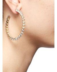 Eddie Borgo Metallic Pavé Mini Cone Hoop Earrings