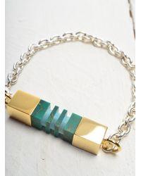 Lily Kamper - Green Side Column Bracelet - Last One - Lyst