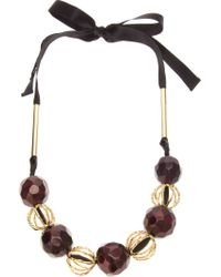 Marni | Metallic Beaded Necklace | Lyst