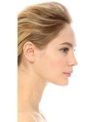 Tai | Metallic Hollow Circle Earrings - Gold | Lyst