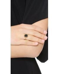 Marc By Marc Jacobs - Metallic Enamel Scalloped Disc Ring - Talc - Lyst