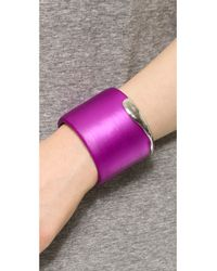 Alexis Bittar | Liquid Metal Edge Cuff Bracelet - Hot Pink | Lyst