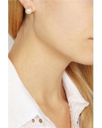 Ryan Storer | Pink Rose Gold-plated Swarovski Pearl Earrings | Lyst