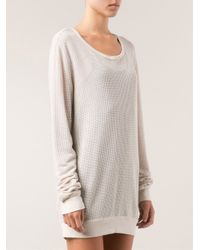 Lacausa - Natural Mesh Pullover Sweater - Lyst