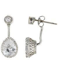 John Lewis | Metallic Glass Crystal Back Drop Stud Earrings | Lyst