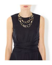 Hobbs - Metallic Sonja Necklace - Lyst