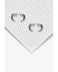 Nasty Gal | Metallic One Tusk Tunnel Earrings | Lyst