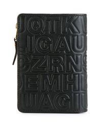 Comme des Garçons - Black Embossed Letters Wallet for Men - Lyst