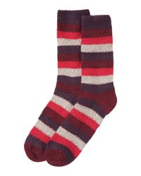 Toast | Multicolor Texture Stripe Socks | Lyst