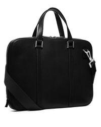 Michael Kors | Black Warren Leather Slim Briefcase for Men | Lyst