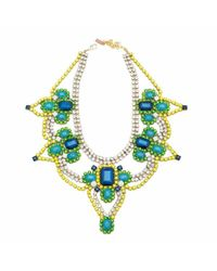 Doloris Petunia | Green Athens Necklace | Lyst