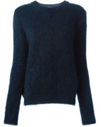Cedric Charlier - Blue Classic Round Neck Sweater - Lyst