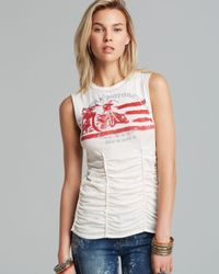 Free People | White Tank Roll with It | Lyst
