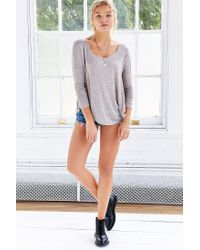 Silence + Noise - Gray Brandi Scoop-neck Tee - Lyst