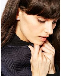Weekday   White Agate Earrings   Lyst