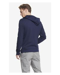 Express - Blue Color Block Sash Large Lion Hoodie for Men - Lyst