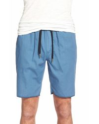 Ezekiel | Blue 'jet Stream' Woven Jogger Shorts for Men | Lyst