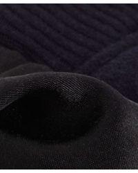 CLU   Blue Navy Sweatshirt And Velvet Skirt Dress   Lyst
